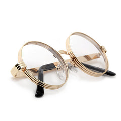 Iconic 52mm Thick Triple Ring Round Metal Frame Eyewear
