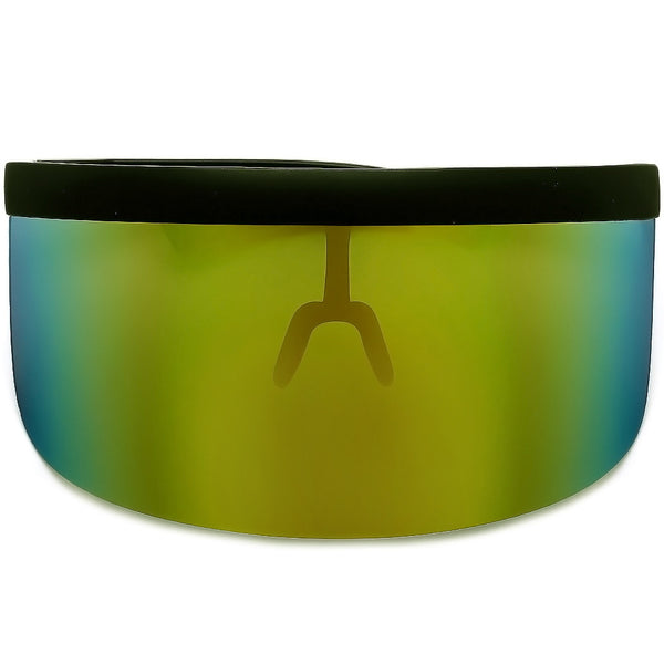The Undercover Oversized Hip Hop Scene Shield Visor Sunglasses
