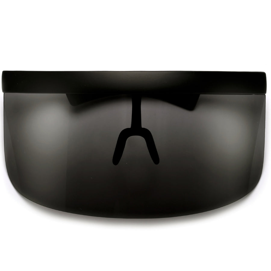 e9454a1ddbb The Undercover Oversized Hip Hop Scene Shield Visor Sunglasses