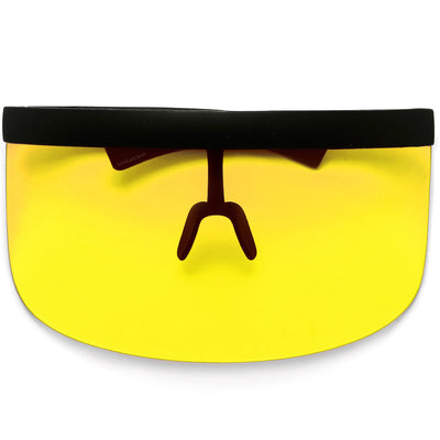 The Undercover Oversized Hip Hop Scene Shield Visor Sunglasses - Sunglass Spot