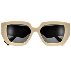 Oversized Retro Silhouette Ultrachic Modernized Sleek Flat Lens Sunglasses