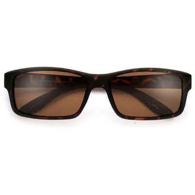 Polarized 58mm Smooth Matte Frame Casual Shades - Sunglass Spot