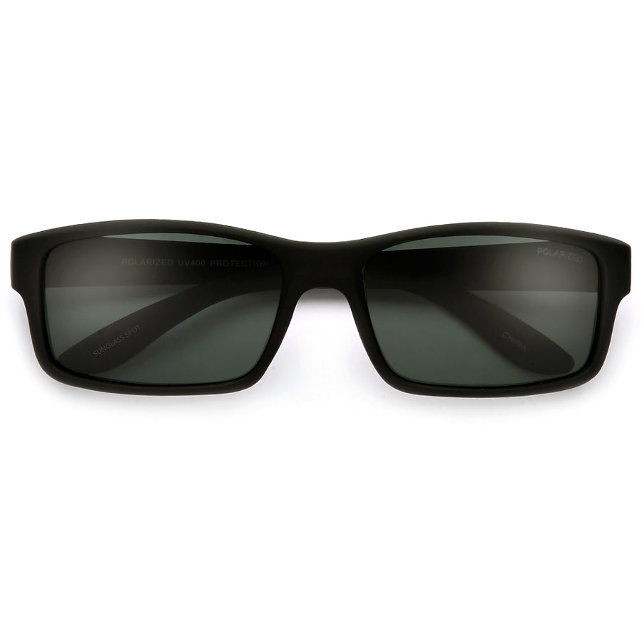 Polarized 58mm Smooth Matte Frame Casual Shades