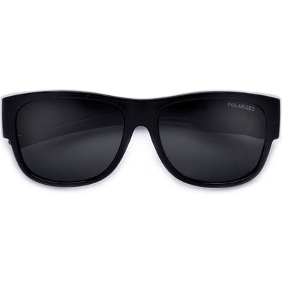 Polarized Full Coverage Wrap Around Dark Shades - Sunglass Spot