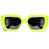 Women's Chic Oversize 63mm Wavy Temple Sunglasses
