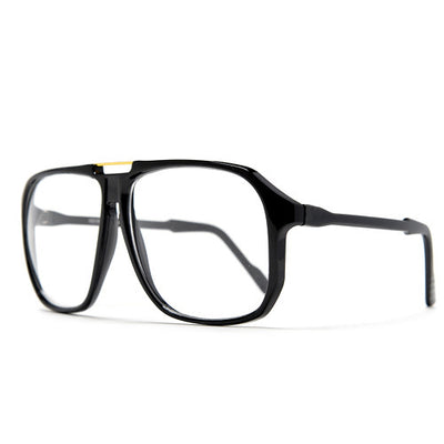 62mm Retro Square Clear Lens 70's Style Eyewear Glasses
