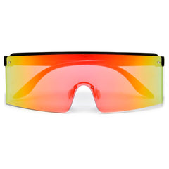 Foldable Wayfarer Frame with Colorful Slap Wristband Temples