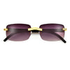 Rimless High Fashion Crystal Embedded Sunglasses - Sunglass Spot