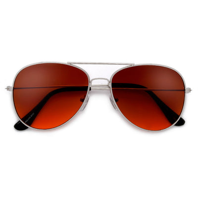 58mm Traditional Classic Aviator with Blue Blocking Bronze Tint - Sunglass Spot
