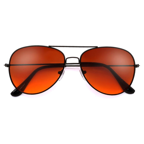 Oversize Metal Frame Iridescent Shield Lens Sleek Modern Sunglasses