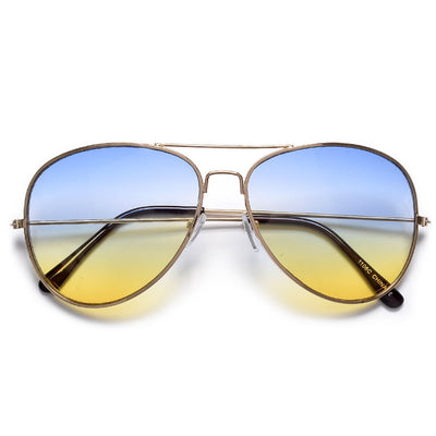 Vibrant Multicolored Lens Classic Aviator Fashion Sunglasses - Sunglass Spot