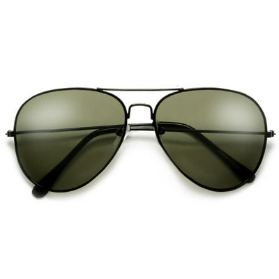 Original Classic Sleek Black Nickel Finish High Quality Aviator Sunglasses