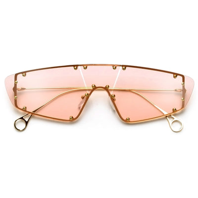 Standout Studded Rimless Shield Sunnies - Sunglass Spot