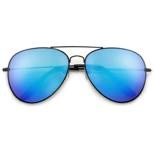 Summer Bright Colorful Aviators Wrapped Around a Bold Black Frame