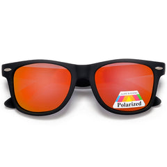 Polarized Colorful Mirrored Lens Classic Wayfarer Sunglasses
