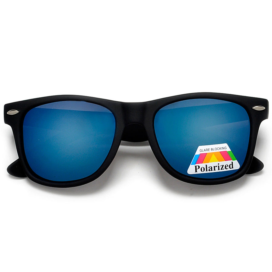 Polarized Colorful Mirrored Lens Classic 80's Style Sunglasses