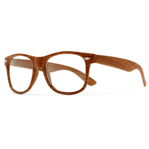 Nerdy Eco Friendly Wood Print Classic Wayfarer Glasses