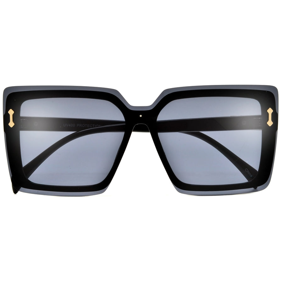Oversize Rimless Modern Shield Sunnies
