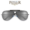 Premier Collection-Modern Flat Lens Tear Drop Bullseye Aviator - Sunglass Spot
