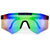 Sporty Rimless Paint Splatter Frame Shields