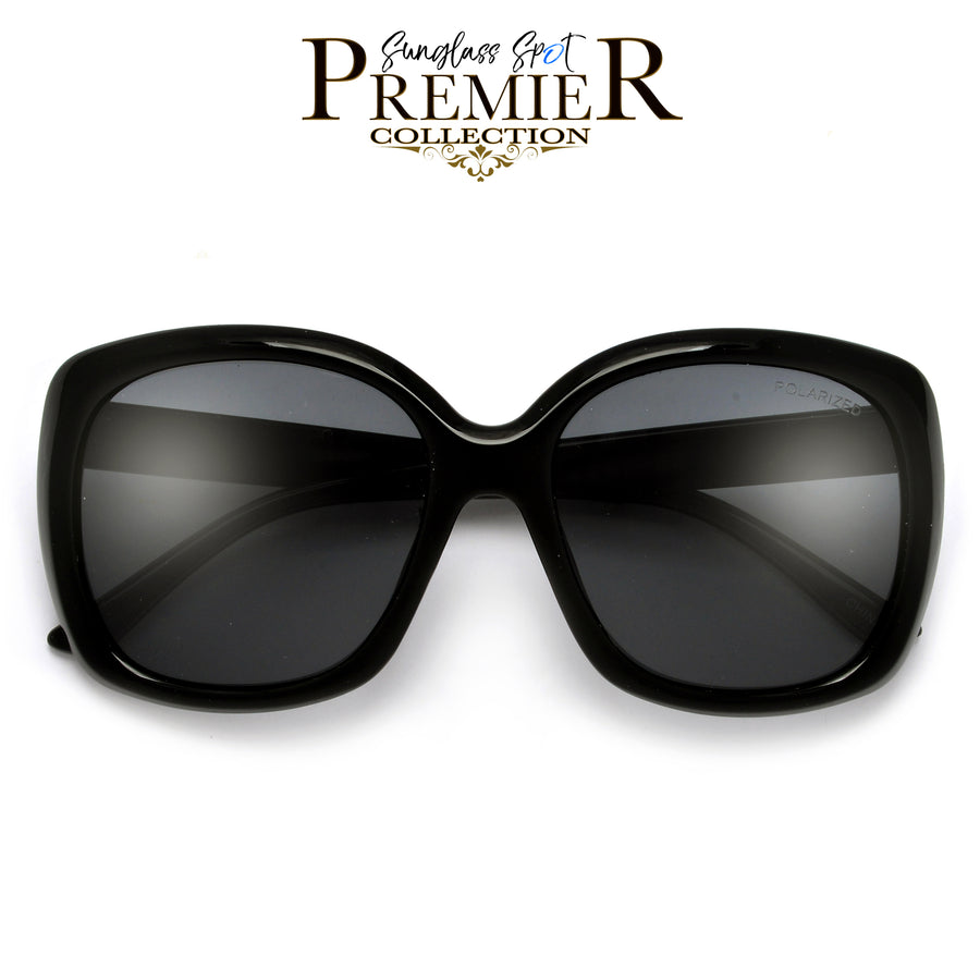 PREMIER COLLECTION - Polarized Chunky Oversize Chic Sunnies