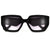 Slender Retro Appeal Bold Cat Eye Sunglasses