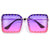 Bold Oversize Studded Square Silhouette Sunglasses
