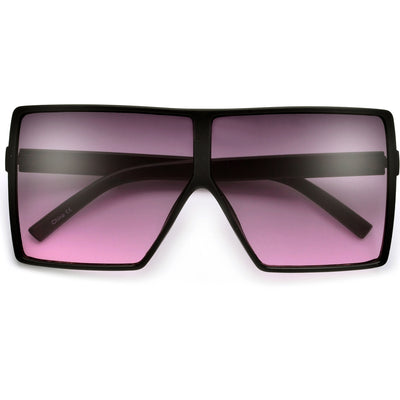Oversized 71mm Bold Squared Off Visor Inspired Sunglasses