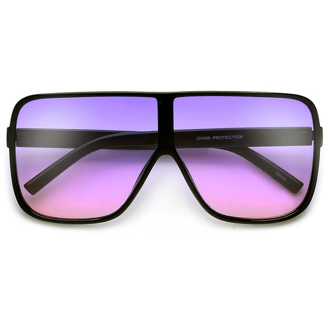 Dramatic Oversized Butterfly Silhouette Lightweight Extraordinary Sunglasses