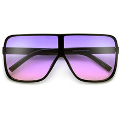 Oversized 70mm Bold Visor Inspired Sunglasses