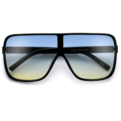 Oversized 70mm Bold Visor Inspired Sunglasses - Sunglass Spot