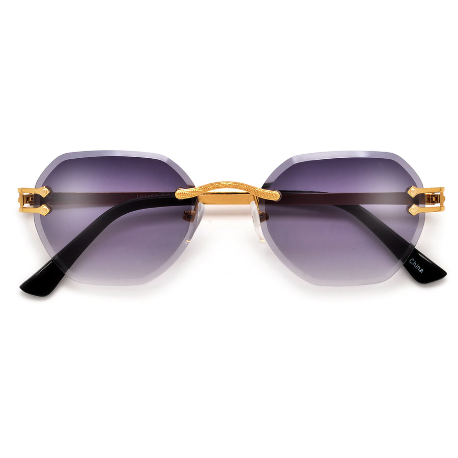 Rimless Horseshoe Temple High Fashion Sunnies