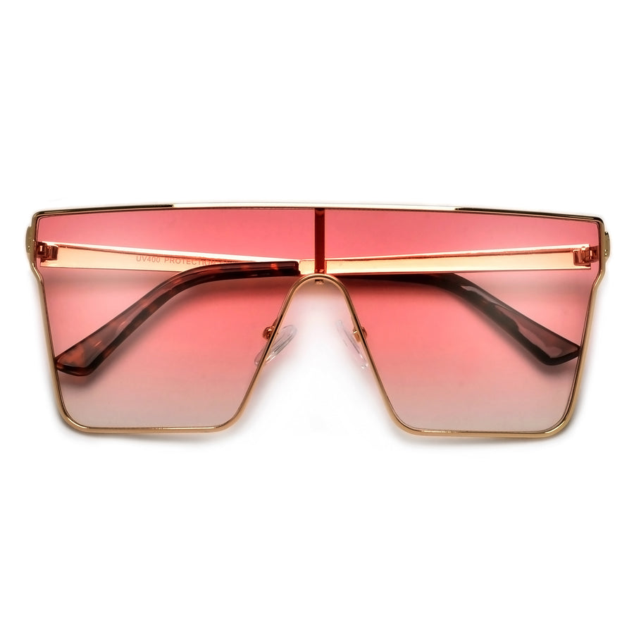 Oversize Sleek Shield Sunnies