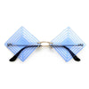 Rimless Geometric Cutout Sunnies - Sunglass Spot