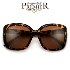 Designer Inspired Oversize 64mm Open Temple Frame Fashion Eyewear