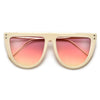 Flat Top Modern Minimalist Fashion Sunnies - Sunglass Spot