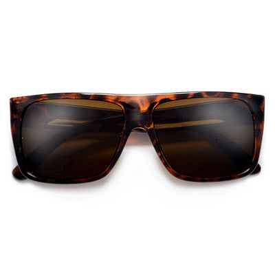 Fresh Squared Off Flat Top Stylish Street Scene Shades - Sunglass Spot