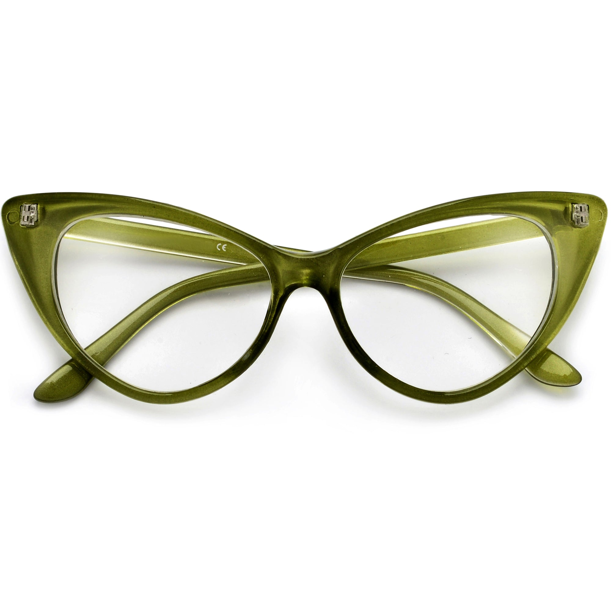 9273d0be4a Super Cat Eye Vintage Inspired Fashion Mod Chic High Pointed Clear Eye Wear  Glasses