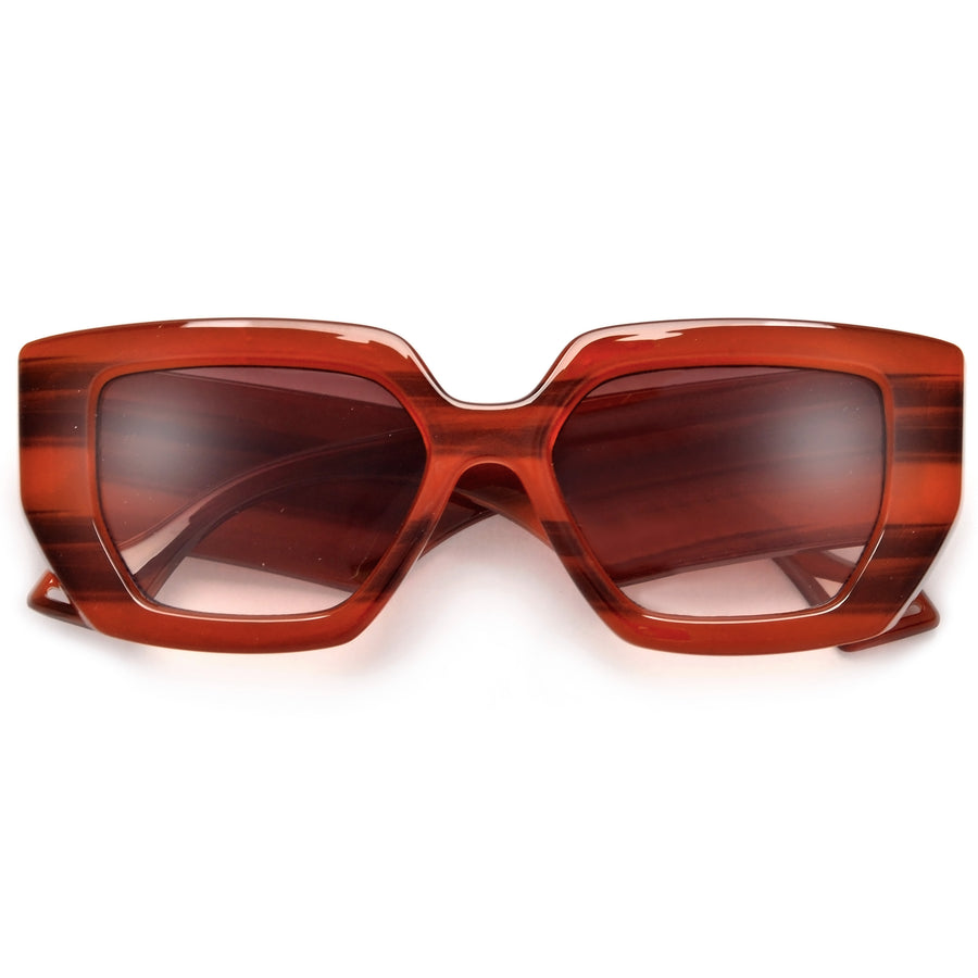 Bold Thick Oversize Glamorous Cat Eye Sunnies