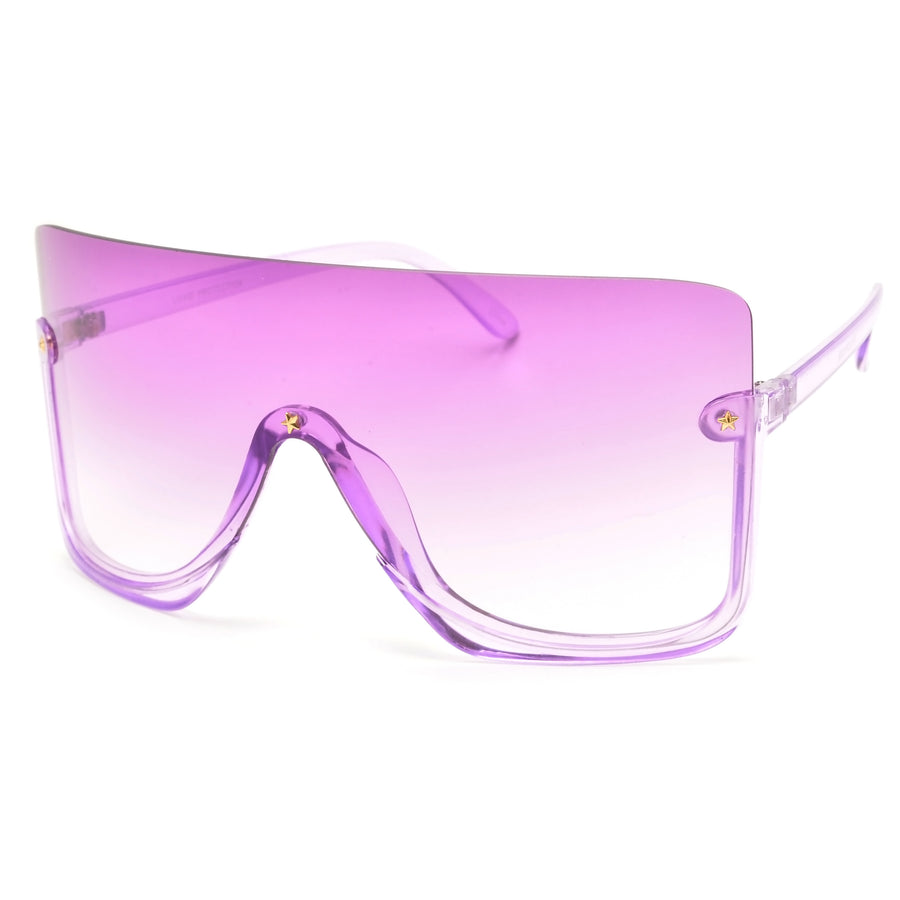 Geometric Shape Funky Clear Lens Eyewear with a Bold Appeal - Sunglass Spot