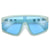 Bold Statement Studded Temple Flat Shield Sunnies