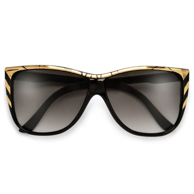 Trendy Updated Bold Square Cat Eye Sunglasses - Sunglass Spot