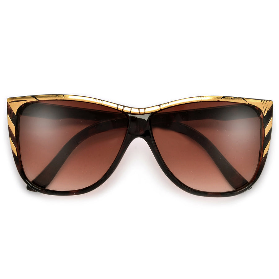 Trendy Updated Bold Square Cat Eye Sunglasses