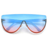 Oversize Rimless Fashion Forward Shield Sunnies