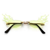 FLAMIN HOT RIMLESS SUNNIES - Sunglass Spot