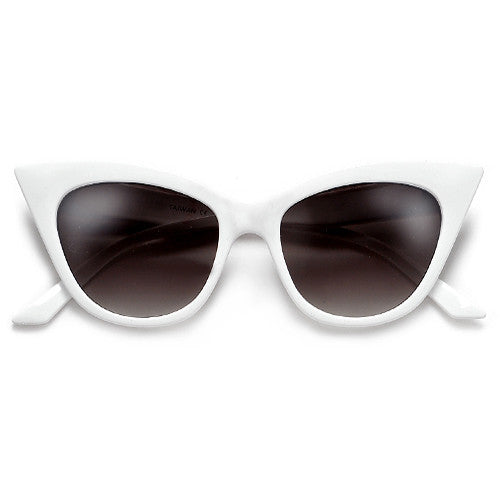 Flirty High Pointed Tip Cat Eye Silhouette Sunglasses
