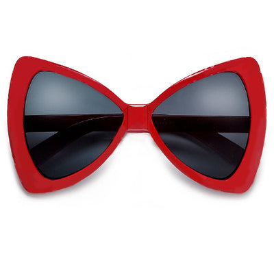 Oversized Bow Tie Design Fashion Fun Sunglasses - Sunglass Spot