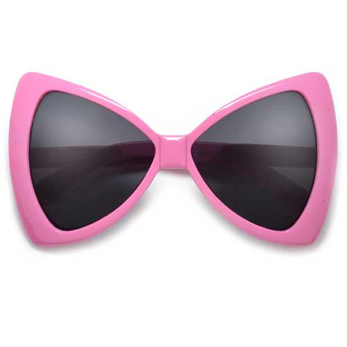 Oversized Bow Tie Design Fashion Fun Sunglasses