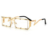 SLEEK STUDDED RIMLESS SQUARED OUT ULTRA LIGHTWEIGHT STREET STYLE EYEWEAR
