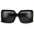 Bold Blocky Ridged Square Frame Sunglasses